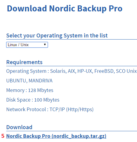 How to install Nordic Backup on Linux / Unix   Secure Cloud